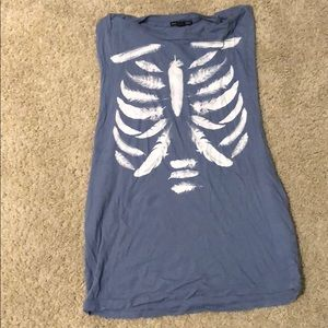 Urban Outfitters feather skeleton muscle tank